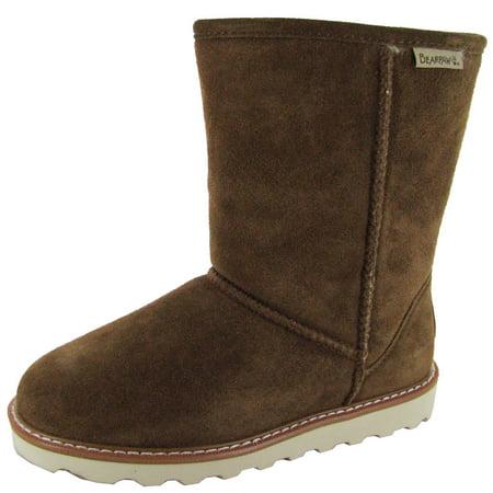 Bearpaw Womens Payton 8-Inch Suede Sheepskin Boot Shoe