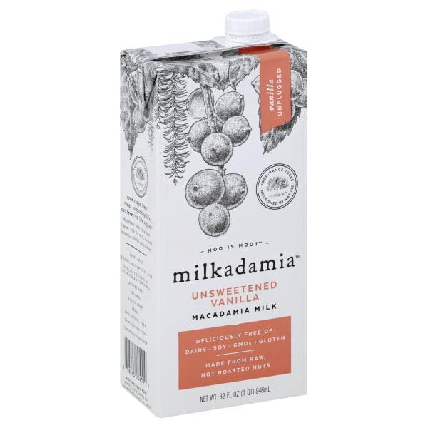 Milkadamia Unsweetened Vanilla Macadamia Milk, 32 fl oz