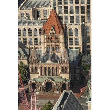Church Boston Halloween Party (Trinity Church in Boston Print Wall Art By CE)
