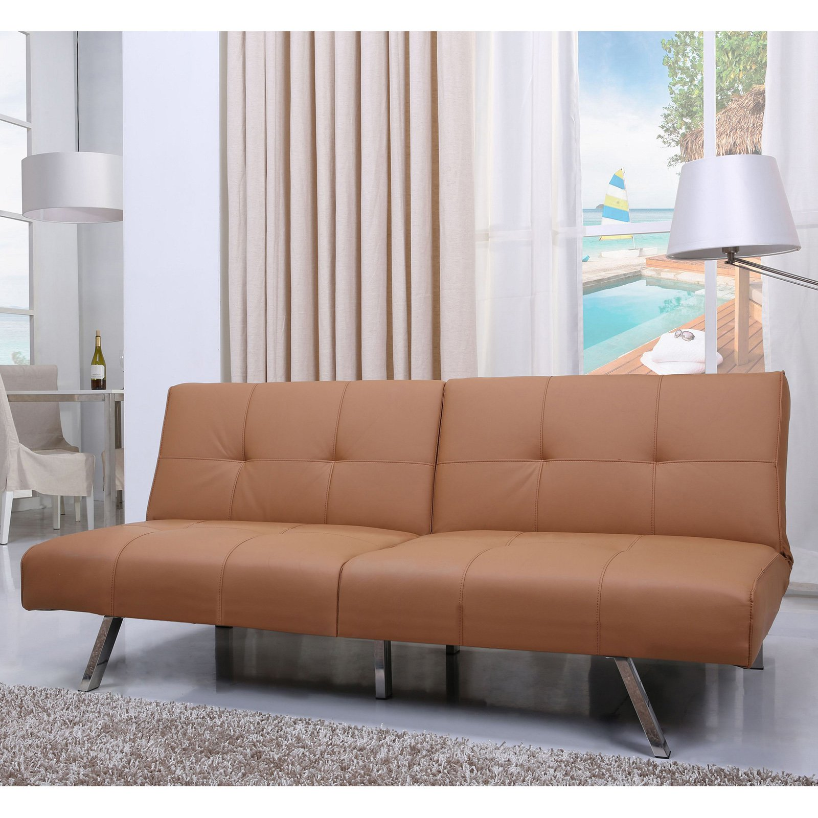 Gold Sparrow Victorville Foldable Futon Sofa