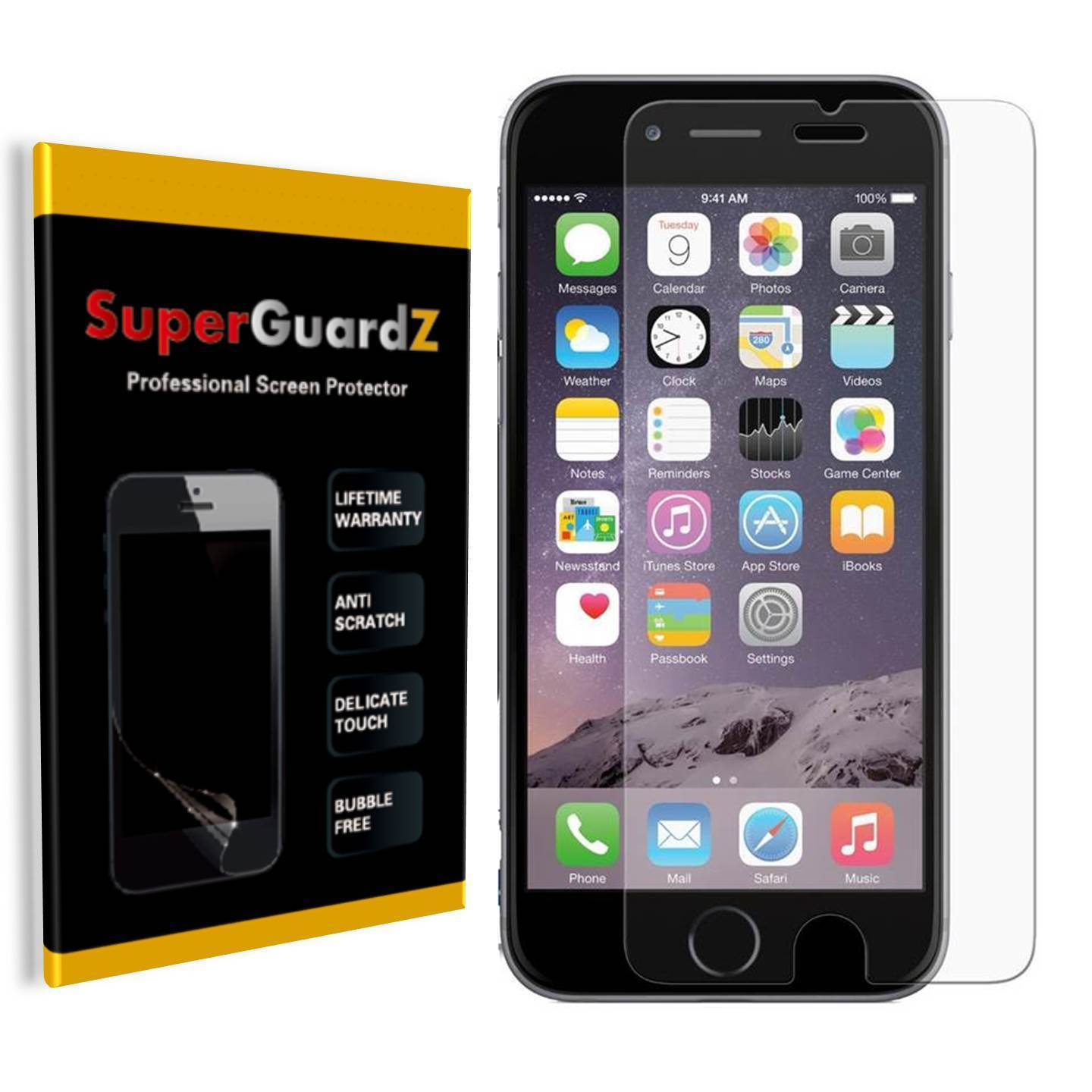 "[8-Pack] SuperGuardZ Ultra Clear Screen Protector For iPhone 8 Plus 5.5"" / iPhone 7 Plus 5.5"""