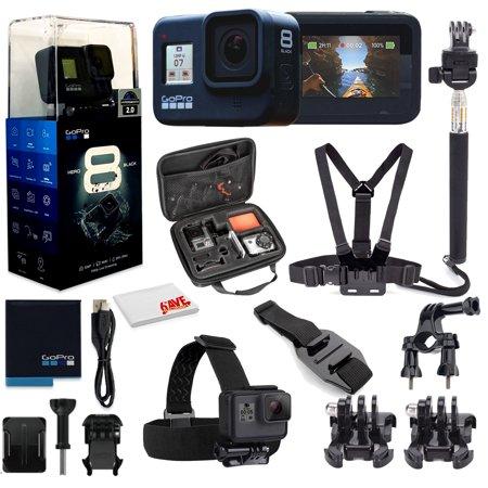 GoPro HERO8 Black Digital Action Camera - With Mega Accessory Kit - All You need Bundle