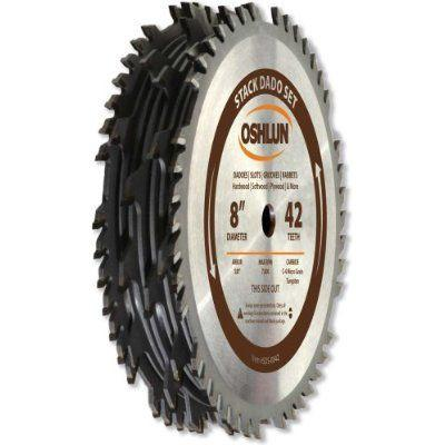 "Oshlun 8"" Carbide Tipped Stacked Dado Saw Stack Blade Too..."