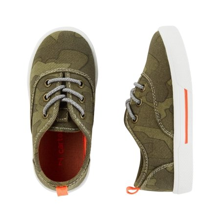 Carter's Little Boys' Slip-On Sneakers, Green Camo