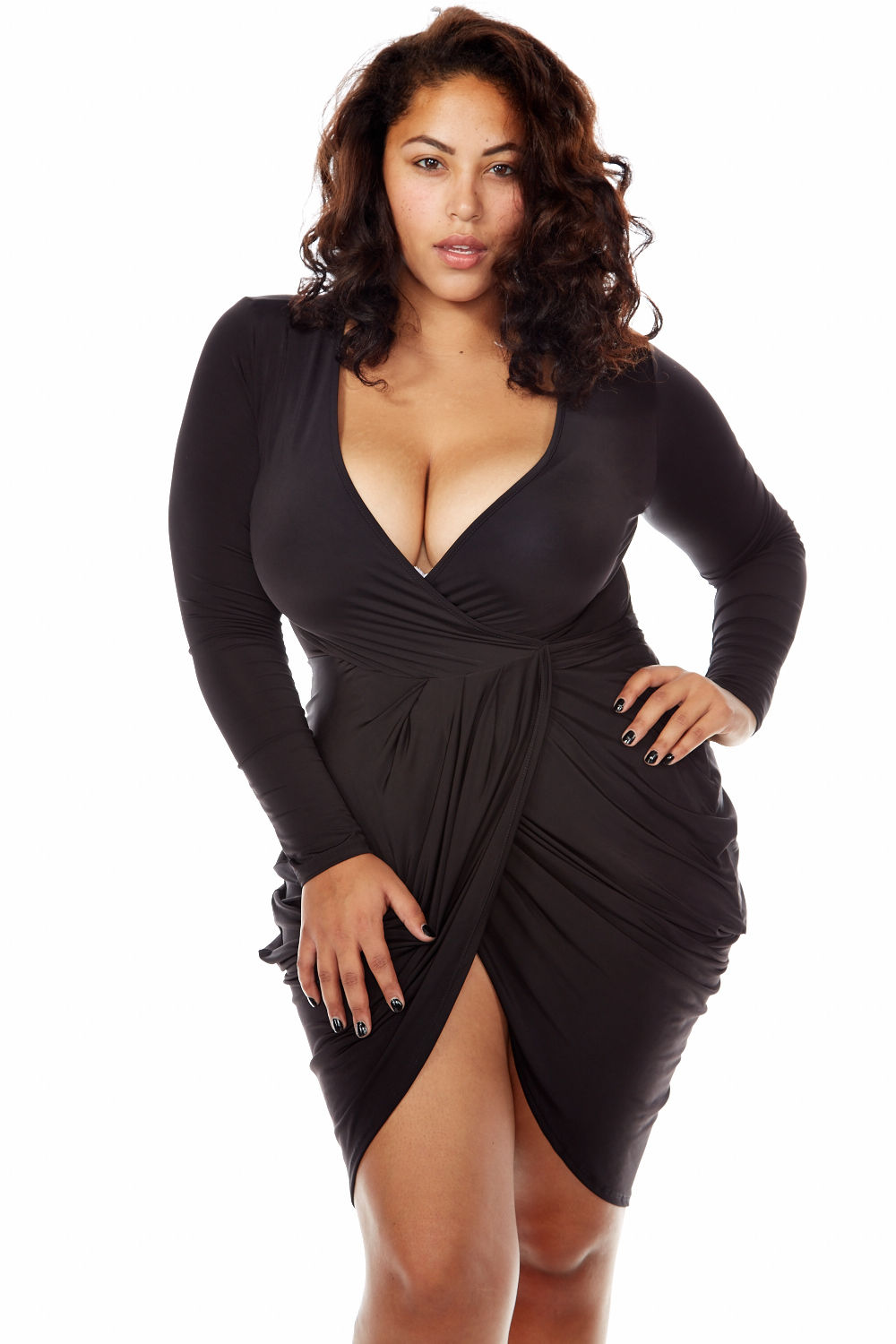 WOMENS PLUS SEXY CLUBWEAR CUT OUT HOT SHORT SLEEVE FASHION DRESS GMD7181-XL-Black