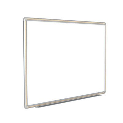 Aluminum Frame Porcelain - Ghent DFMLM34 3 ft. x 4 ft. DecoAurora Aluminum Frame Porcelain Markerboard - Light Maple Trim