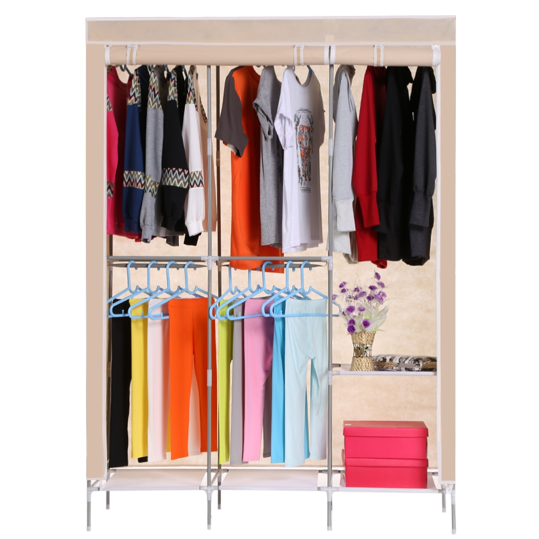 Black Friday BIG SALES Non Woven Folding Practical Portable Clothes Storage  Rack Closet Wardrobe BTC   Walmart.com