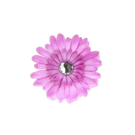 Lavender Rhinestone - Hair Accessory Lavender Rhinestone Daisy Flower Hairclip