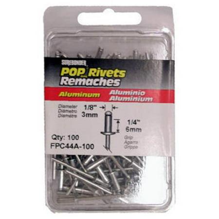 Fpc FPC44A-100 100-Pack Medium Aluminum Rivets