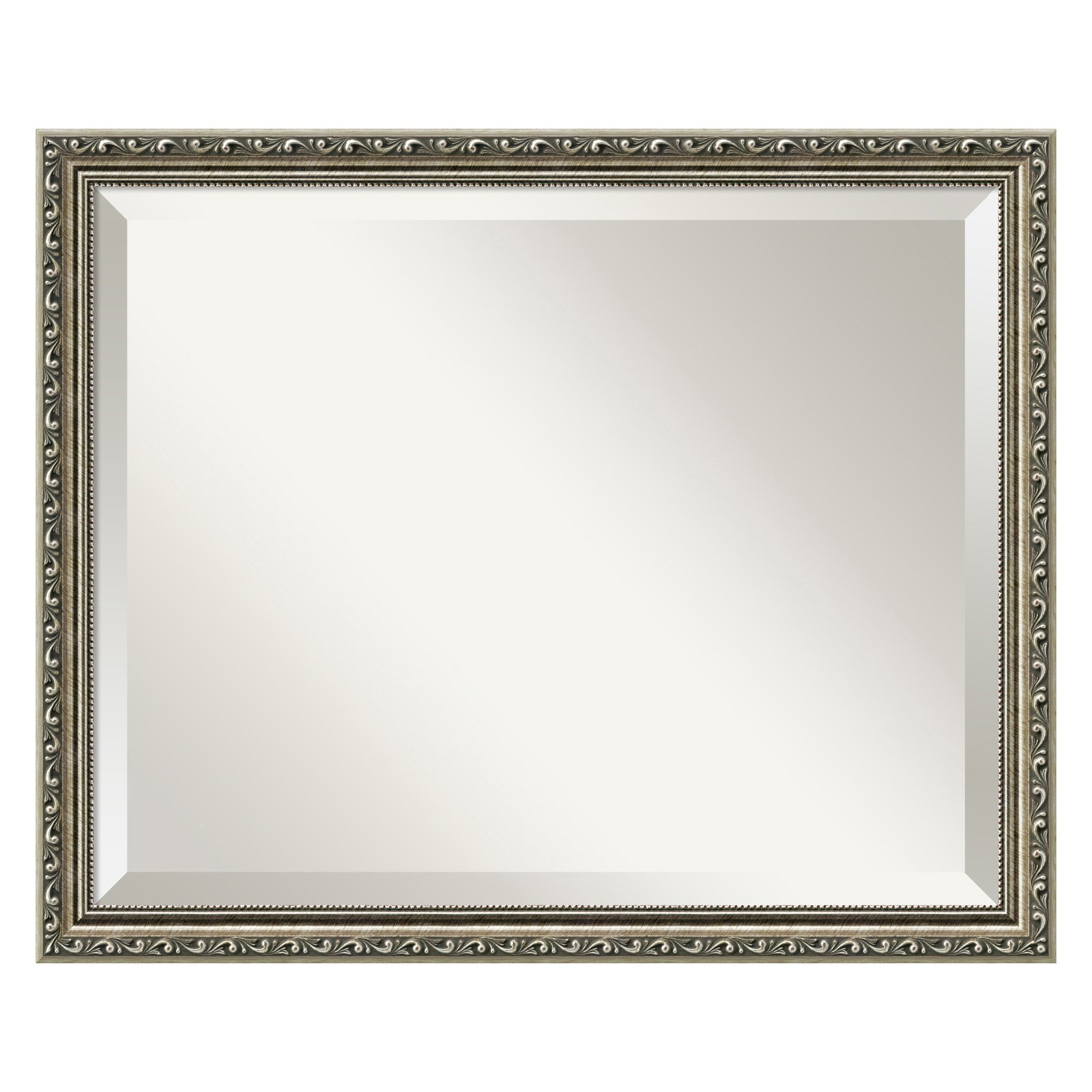 Parisian Silver Wall Mirror 22W x 18H in. by Amanti Art