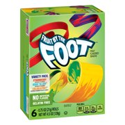 Fruit Snacks Fruit By The Foot Variety Snack Pack 6 Rolls 0.75 oz Each