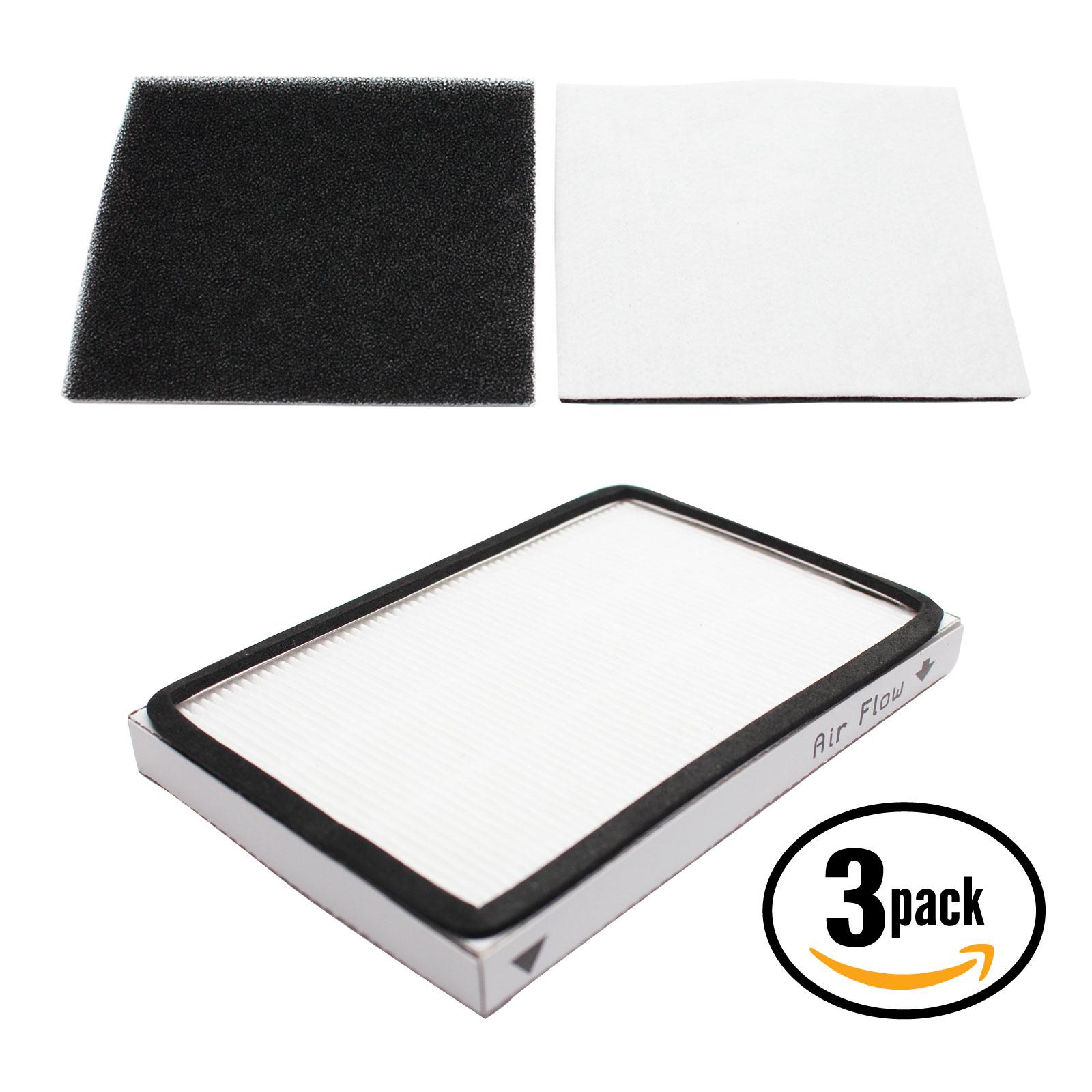 3-pack replacement kenmore 11628014700 vacuum hepa & foam filter ...