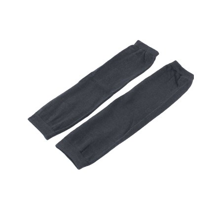 Unique Bargains Unisex Elastic Fingerless Arm Warmers Gloves Dark Gray Pair (Gray Unisex Glove)