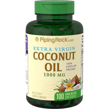 Piping Rock Coconut Oil (Extra Virgin), 1000 mg, 100 Softgels Dietary (Green Roads Cbd Oil 350 Mg Reviews)