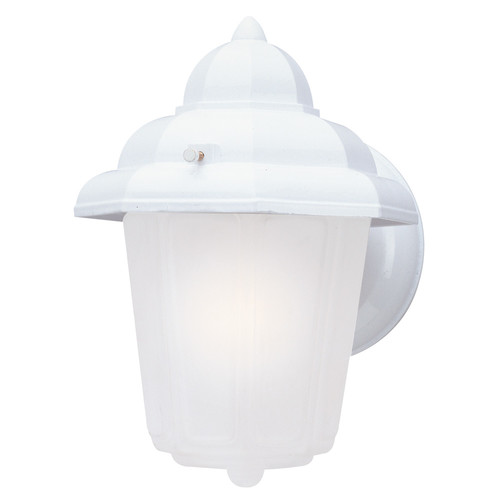 Westinghouse Lighting 6687900 White One-Light Exterior Wall Lantern With Frosted