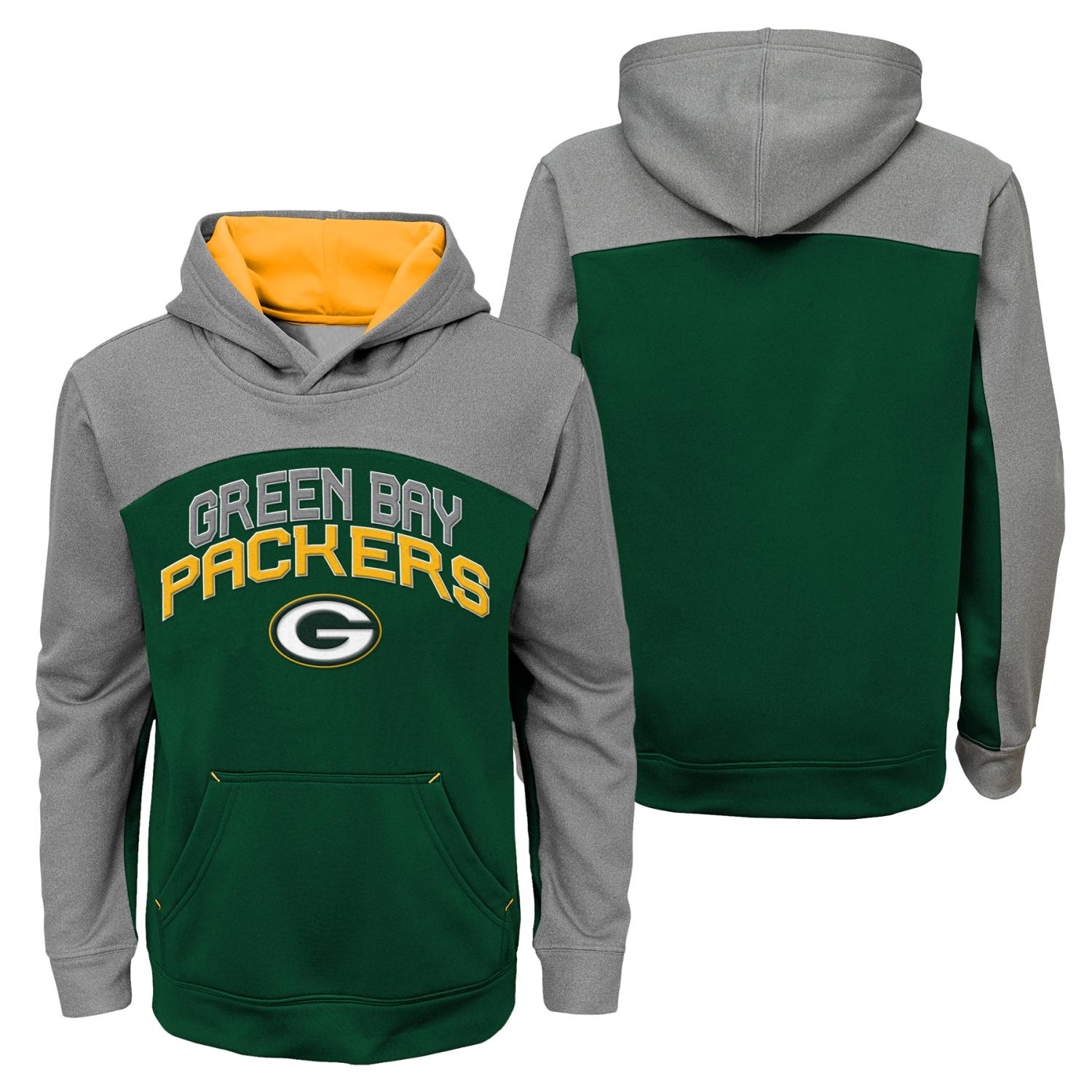 "Green Bay Packers Youth NFL ""Arc"" Pullover Hooded Sweatshirt"