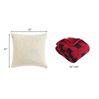 Sherpa Throw Blanket + Sherpa Pillow