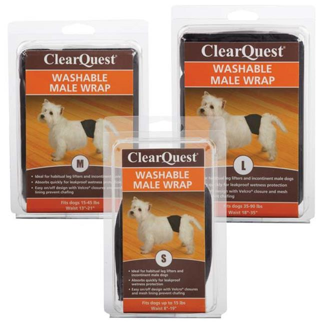 clearquest us6117 16 17 washable male wrap m blk