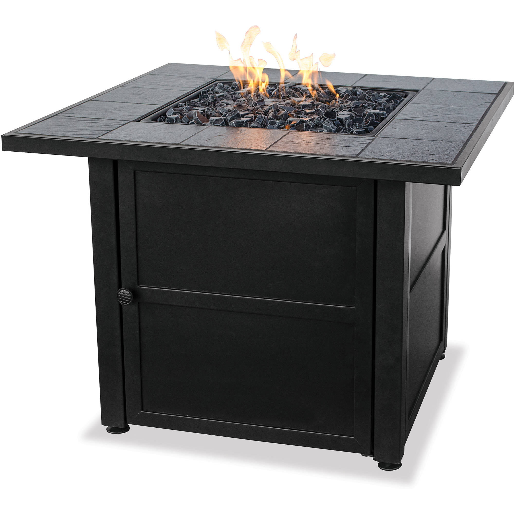 UniFlame LP Gas Ceramic Tile Fire Pit Table Walmart