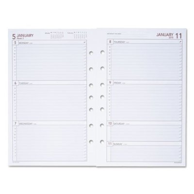 "061-285Y Day Runner Express Dated Planner Refill Weekly 5.50"" x 8.50"" 1 Year January till December... by"