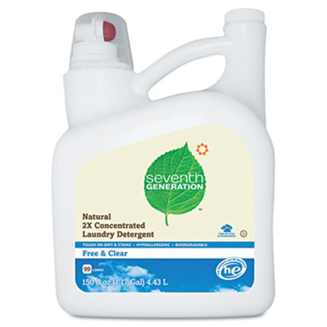 Sev 22803CT Natural 2X Concentrate Liquid Laundry Detergent, Free & Clear