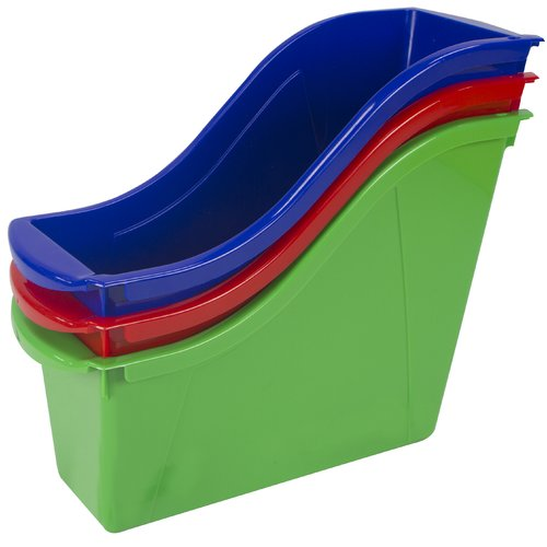 STOREX Book Stackable Cubby Bin (Set of 6)