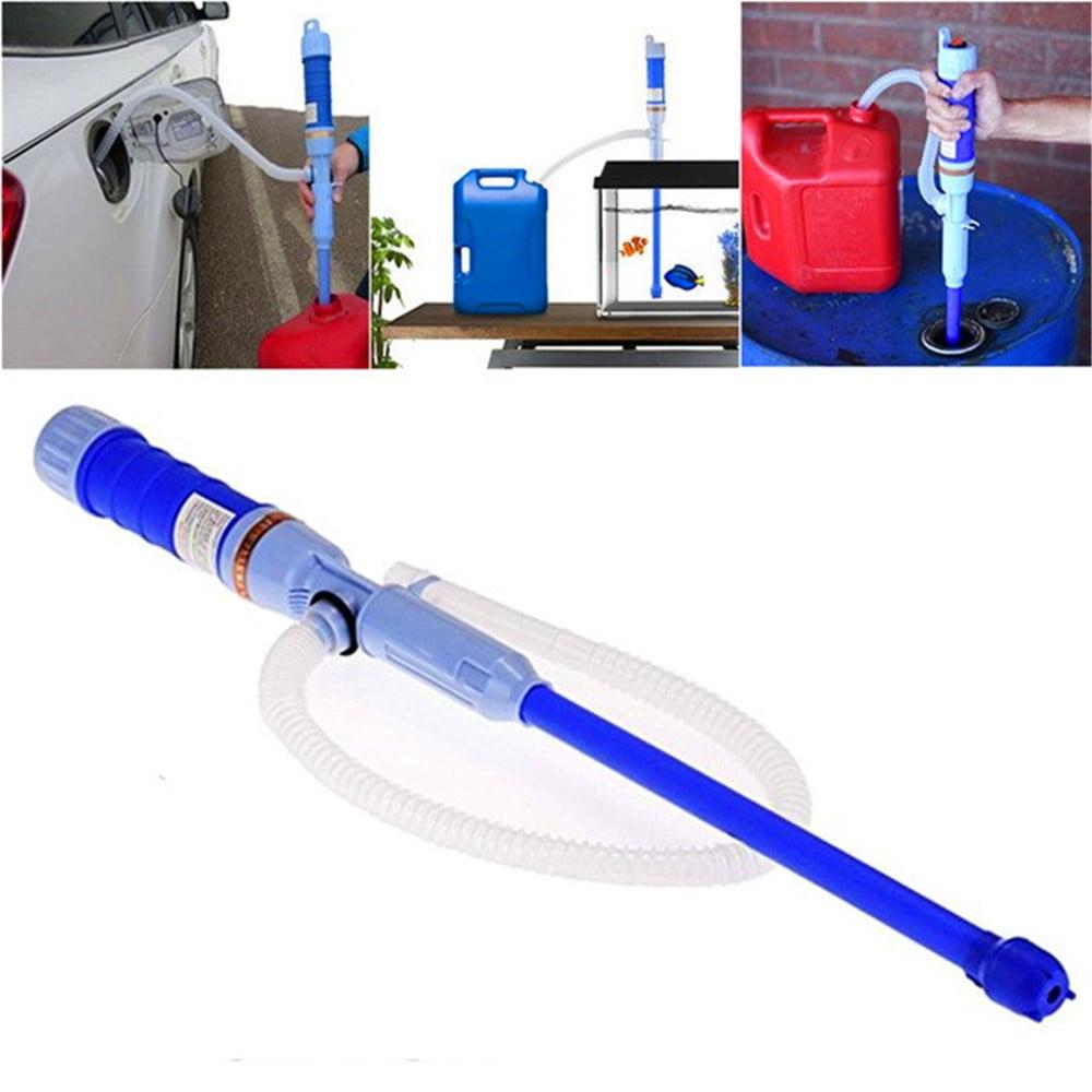 Liquid Transfer Syphon Pump Petrol/Gas/Water/Oil Automatic Battery Operated Fish Tank Sucker Air Fuel Gasoline Transfer