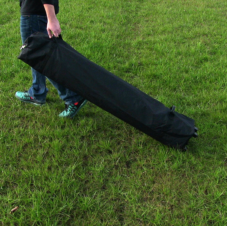 Sunnydaze Pop-Up Canopy Tent Rolling Storage Bag with Handles, Wheeled Roller Case for 8 to 10 Foot Canopy Tents, Black