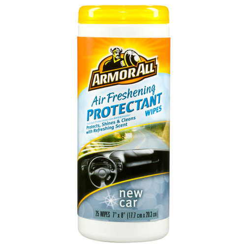 Armor All Air Freshening Protectant Wipes New Car Scent (25 count) by Armor All