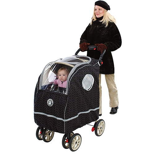 Warm as a Lamb - Single Stroller Winter Coat Cover, Black