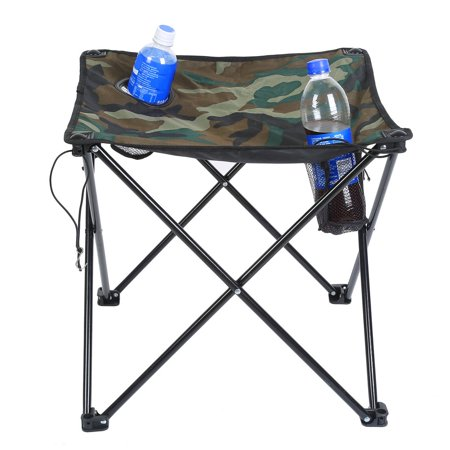 High End Outdoor Furniture Folding Table Desk And Chair Camouflage Combination Set For Tour Picnic