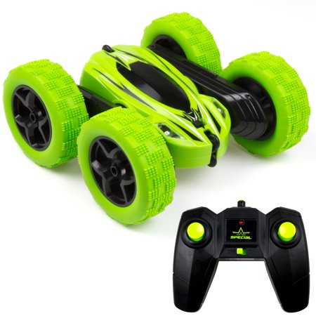2.4G 4WD RC Stunt Car Monster Truck Double Sided Rotating Tumbling Crawler Car