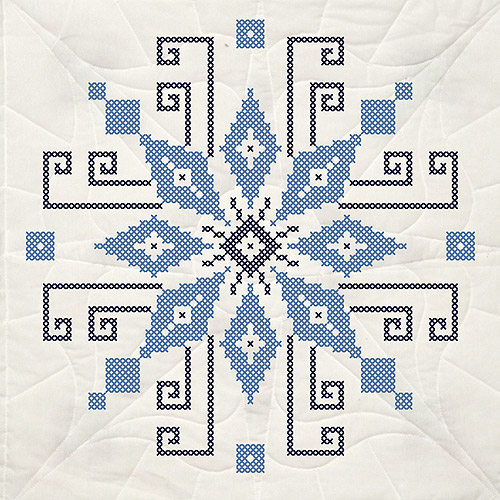 "Fairway Stamped Quilt Blocks, 18"" x 18"", 6/pkg, Cross Stitch Wheel"