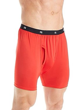 Stacy Adams Men's Big and Tall Boxer Brief Sizes, Black, 3X-Large