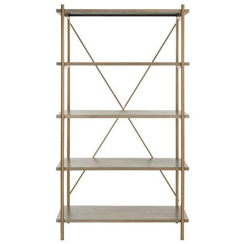 Brayden Studio Seale 5 Tier Etagere Bookcase by