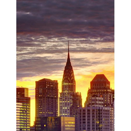 USA, New York, Manhattan, Midtown Skyline and Chrysler Building Print Wall Art By Alan Copson](Halloween Usa Midtown)