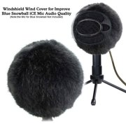 Furry Windscreen Muff Microphone Windshield Wind Cover Customized Pop Filter for Blue Snowball iCE Mic