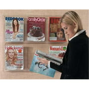 AARCO Products LRC104 Clear-Vu Magazine And Literature Display-4 Magazine Pockets 2 Stack