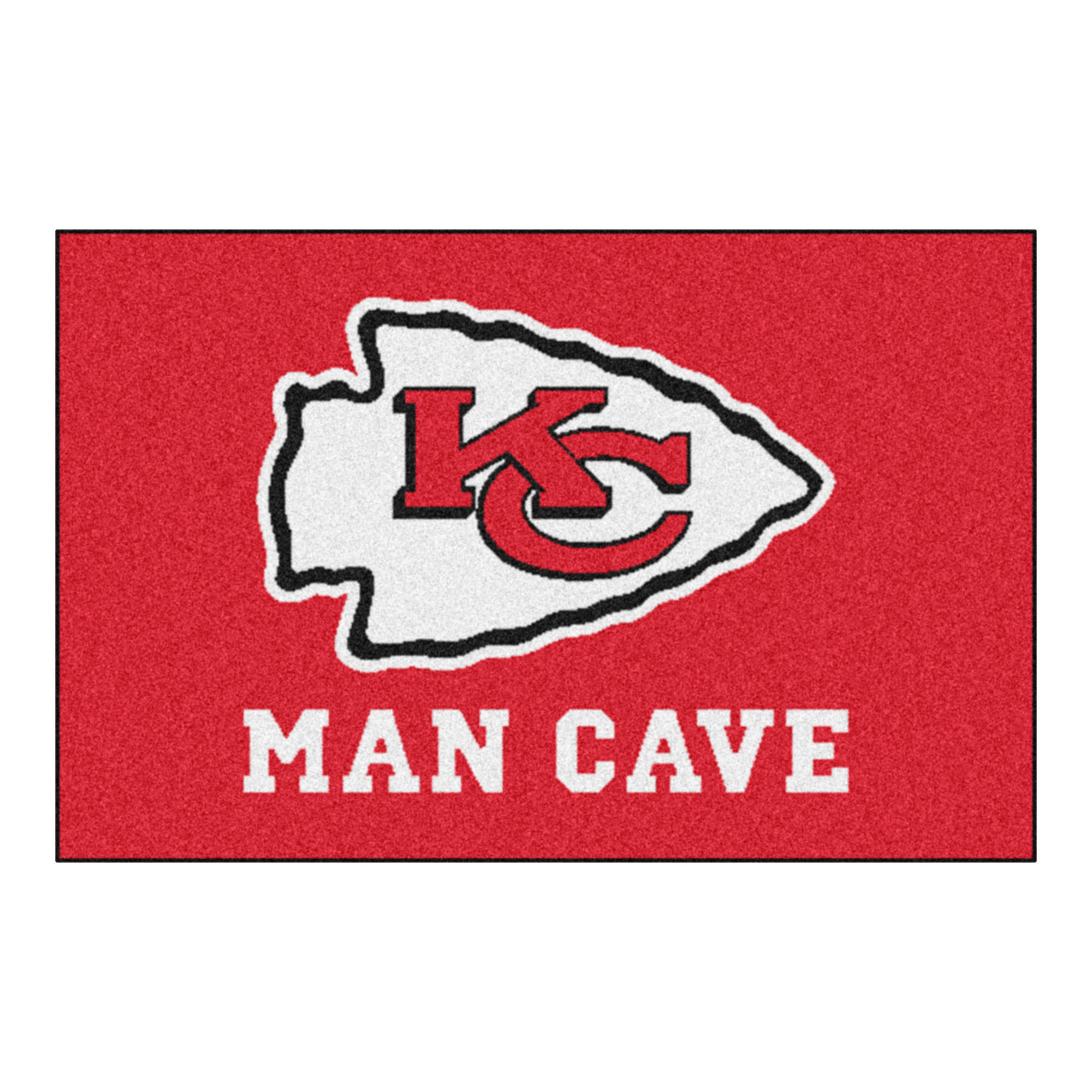 "NFL - Kansas City Chiefs Man Cave Starter Rug 19""x30"""