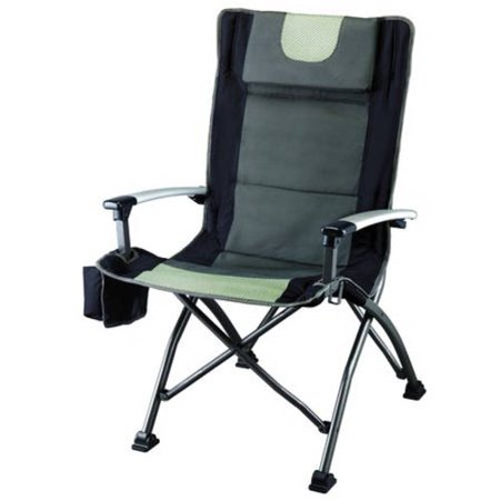 Ozark Trail Folding High Back Chair with Head Rest, Black