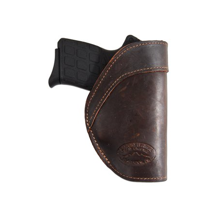 Barsony Left Brown Leather IWB Holster Size 11 AMT Beretta Taurus NA Arms Ruger S&W Kahr Raven Jennings Mini 22 25 32