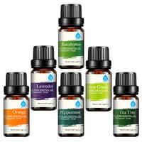 Pursonic, 100% Pure Essential Oil Set, 6-Pack
