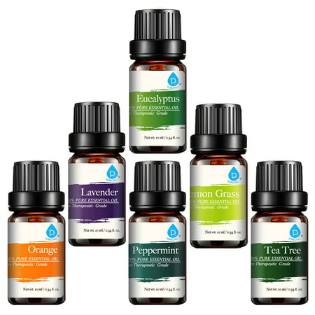 Pursonic Pure Essential Aroma Oils, 6-Pack (Best Carrier Oil For Making Essential Oils)