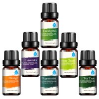 Pursonic, 100% Pure Essential Oil Set, 6-Pack