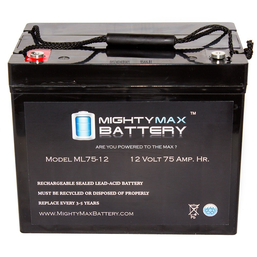 Mighty Max Battery 12V 75AH Internal Thread Battery Replacement for APC UXBP24 Brand Product