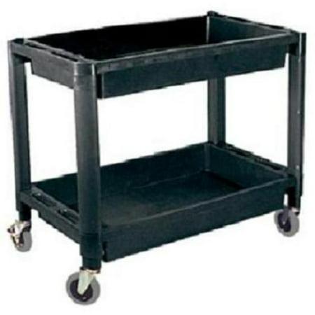 3 Shelf Plastic Utility Cart - Rel Products, Inc. ATD-7016 2-shelf Heavy-duty Plastic Utility Cart
