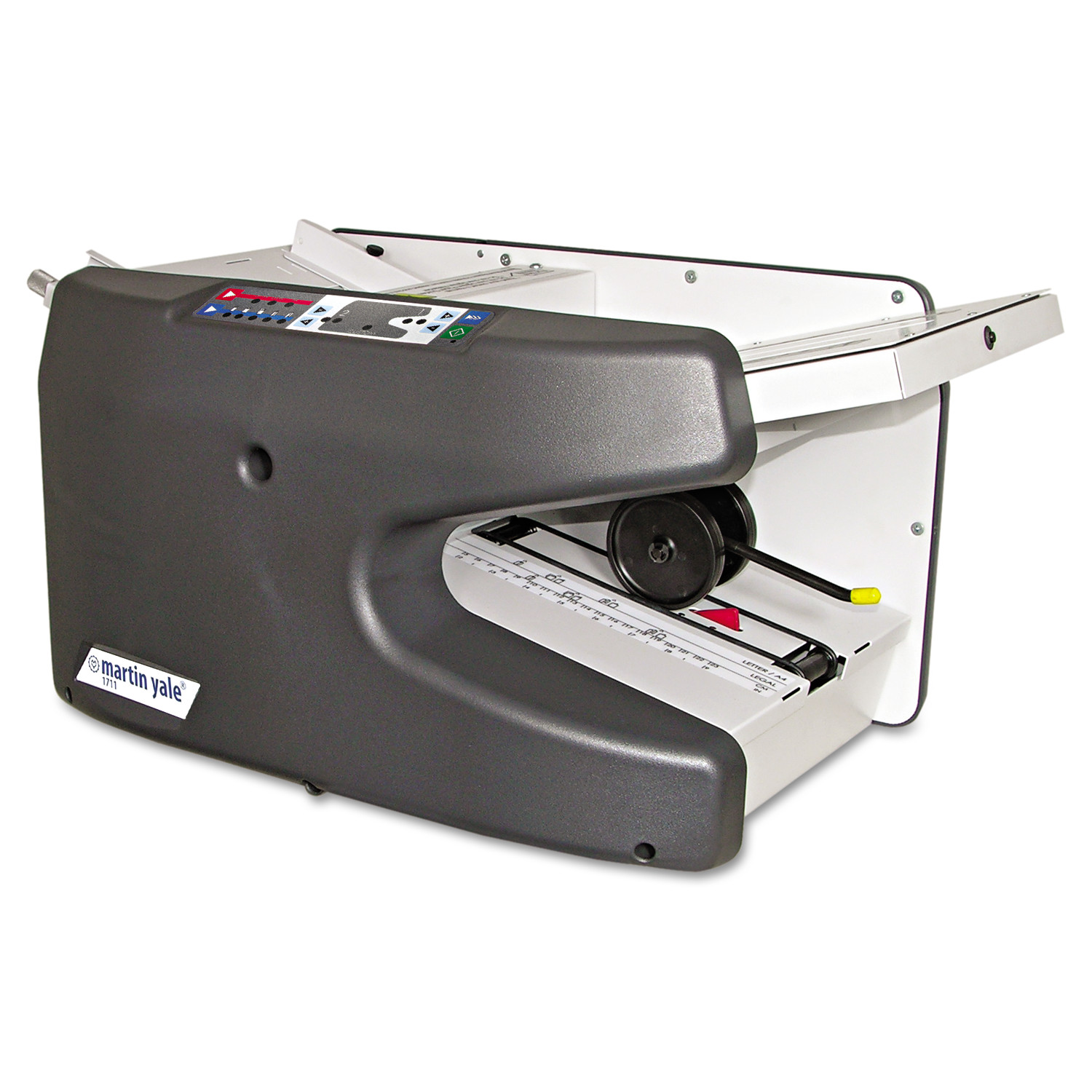 Martin Yale Premier Electronic Ease-Of-Use Semi-Auto Folder, Charcoal