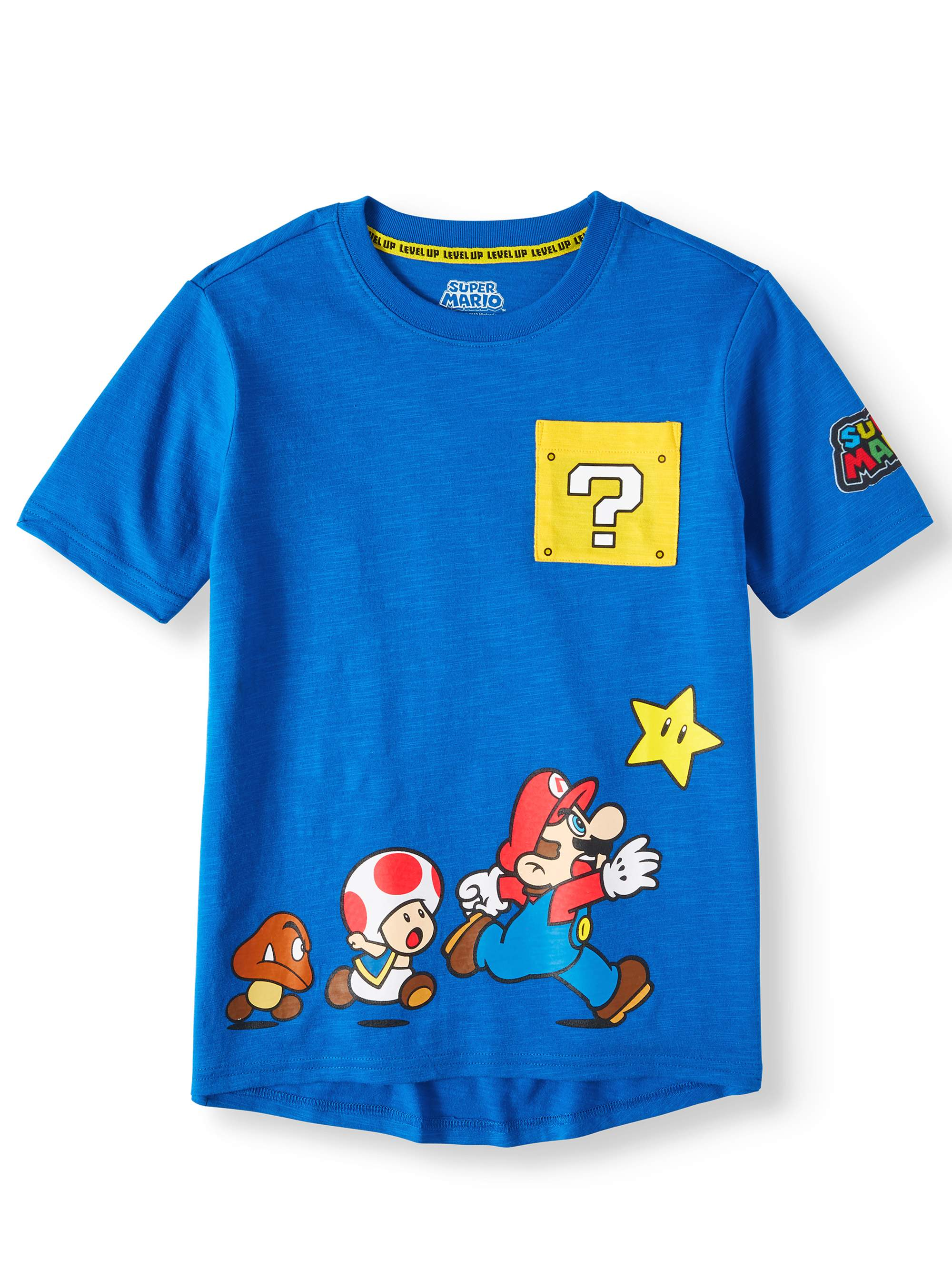Mario Character Short Sleeve Pocket Tee (Little Boys & Big Boys)