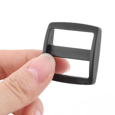 Sac en plastique Sangles Bracelet Rectangle Connexion Boucles Tri glissé noir 20pcs - image 2 de 3