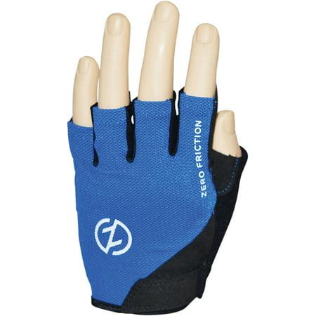 Zero Friction Men's Half Finger Cycling Gloves, Pair, (Finger Tennis Gloves)